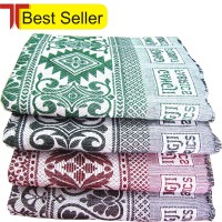 LONG DURABLE FAMOUS SOLAPUR CHADDAR / CARPET / GALICHA IN PURE COTTON AT DISCOUNT RATE-SET OF 4 CHADDARS
