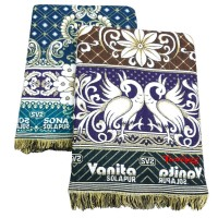 COTTON ABSTRACT DESIGN SOLAPUR CHADDAR BLANKET IN PEACOCK DESIGN - PACK OF 2
